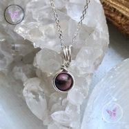 Rhodonite Sterling Silver Wire Wrapped Pendant